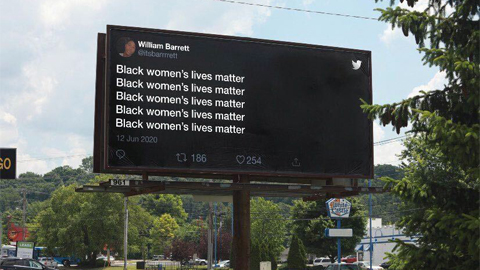 billboard out of home advertising for black lives matter