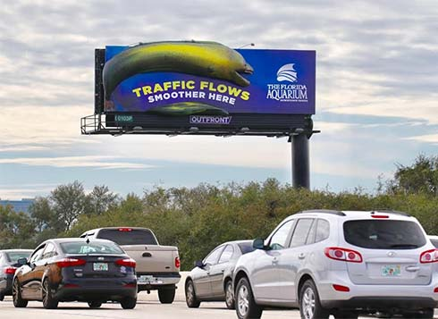 the florida aquarium unique billboard out of home advertising