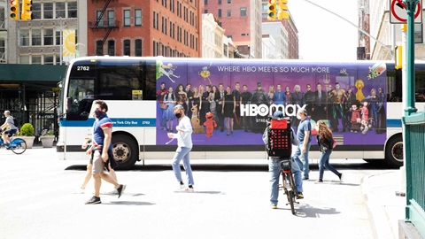 hbo max transit bus out of home advertising in new york city