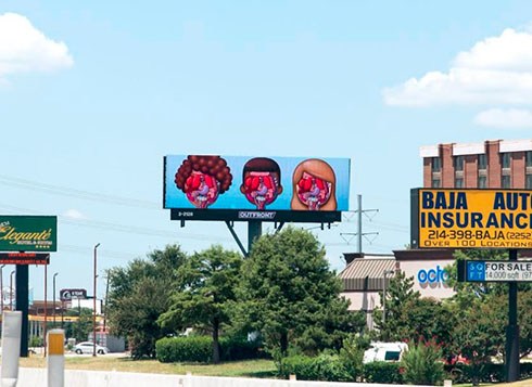 Outfront Studios developed a billboard series that aimed to promote the message of tolerance and unity.