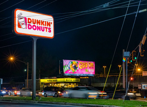 dunkin donuts unique out of home advertising