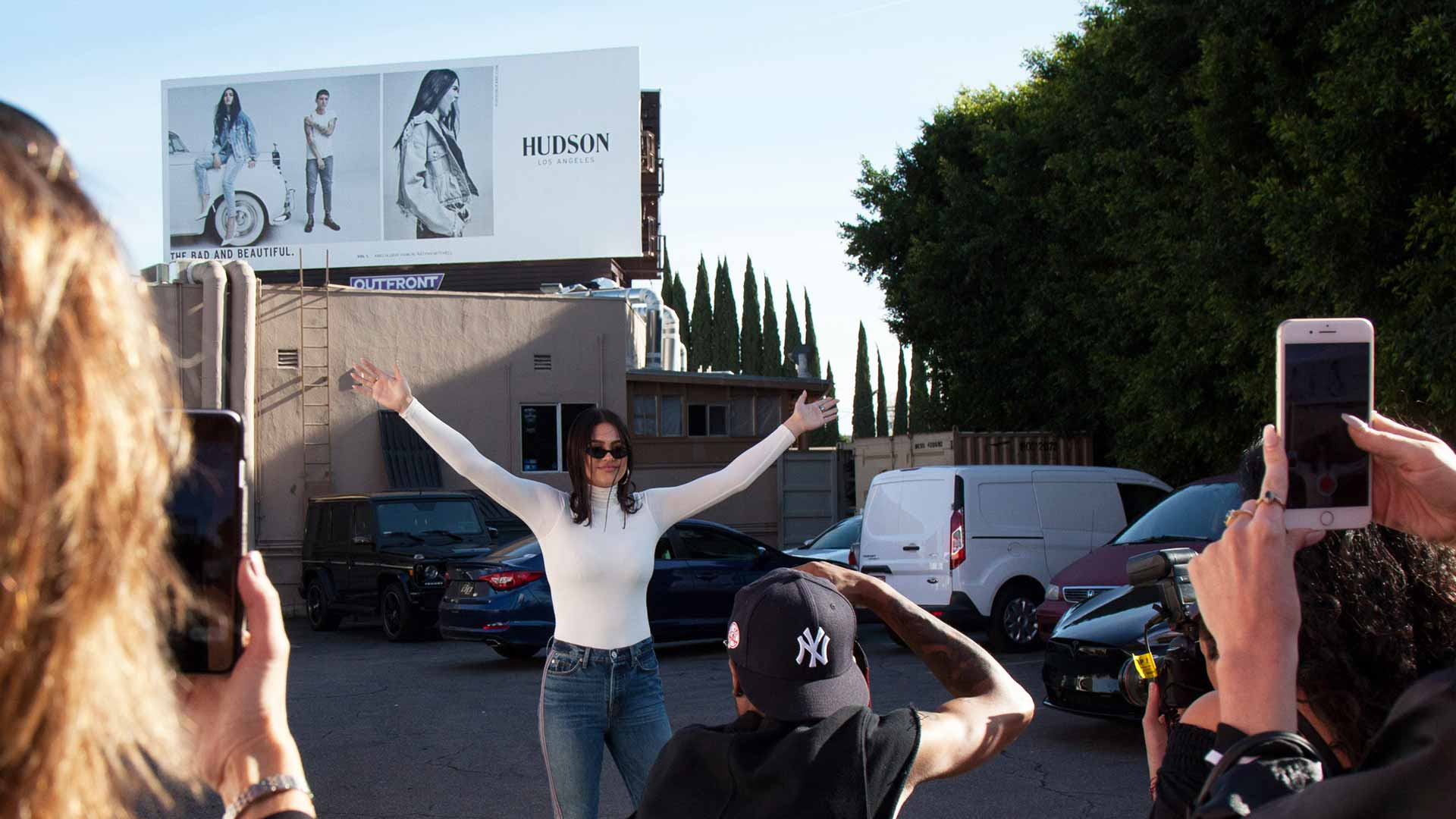 hudson jeans out of home advertising billboard in los angeles