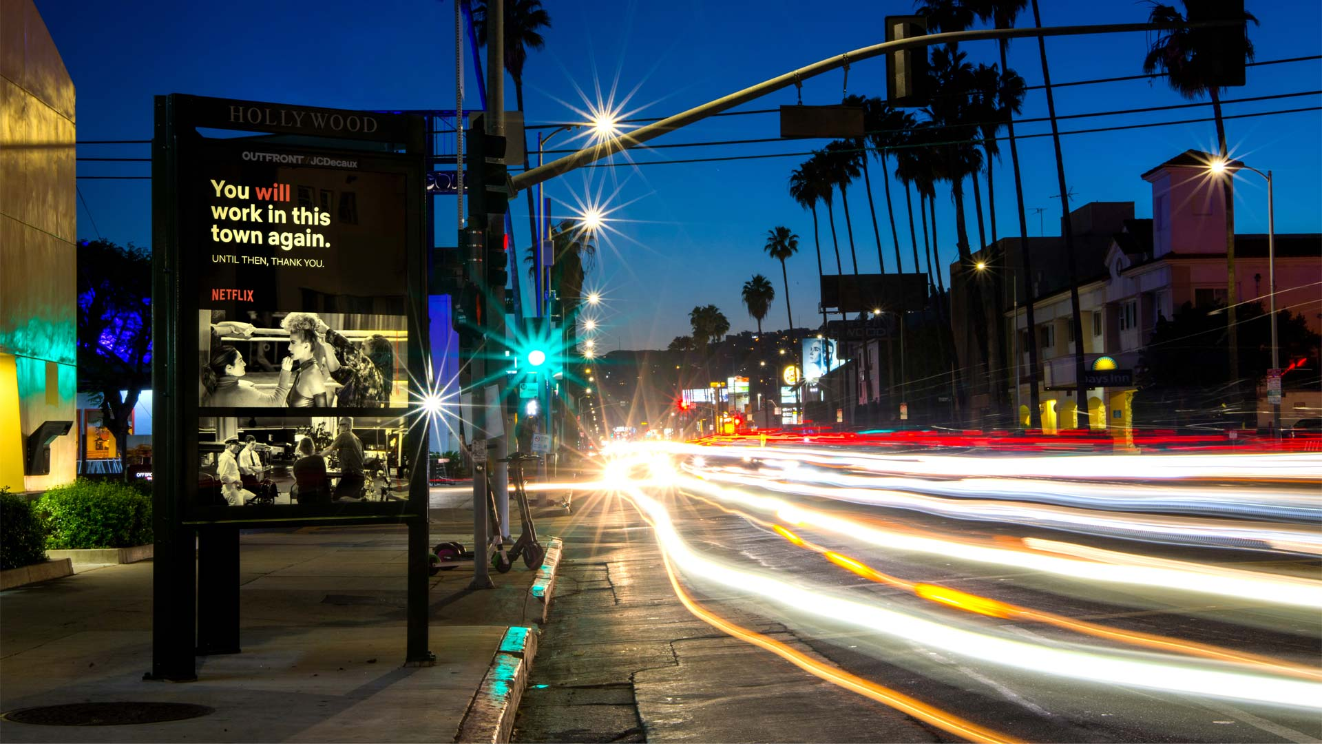 netflix street furniture out of home advertising in los angeles california