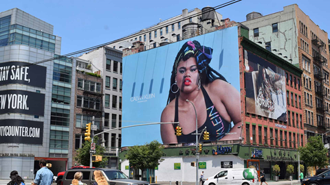 new york city high impact billboard out of home advertising for calvin klein