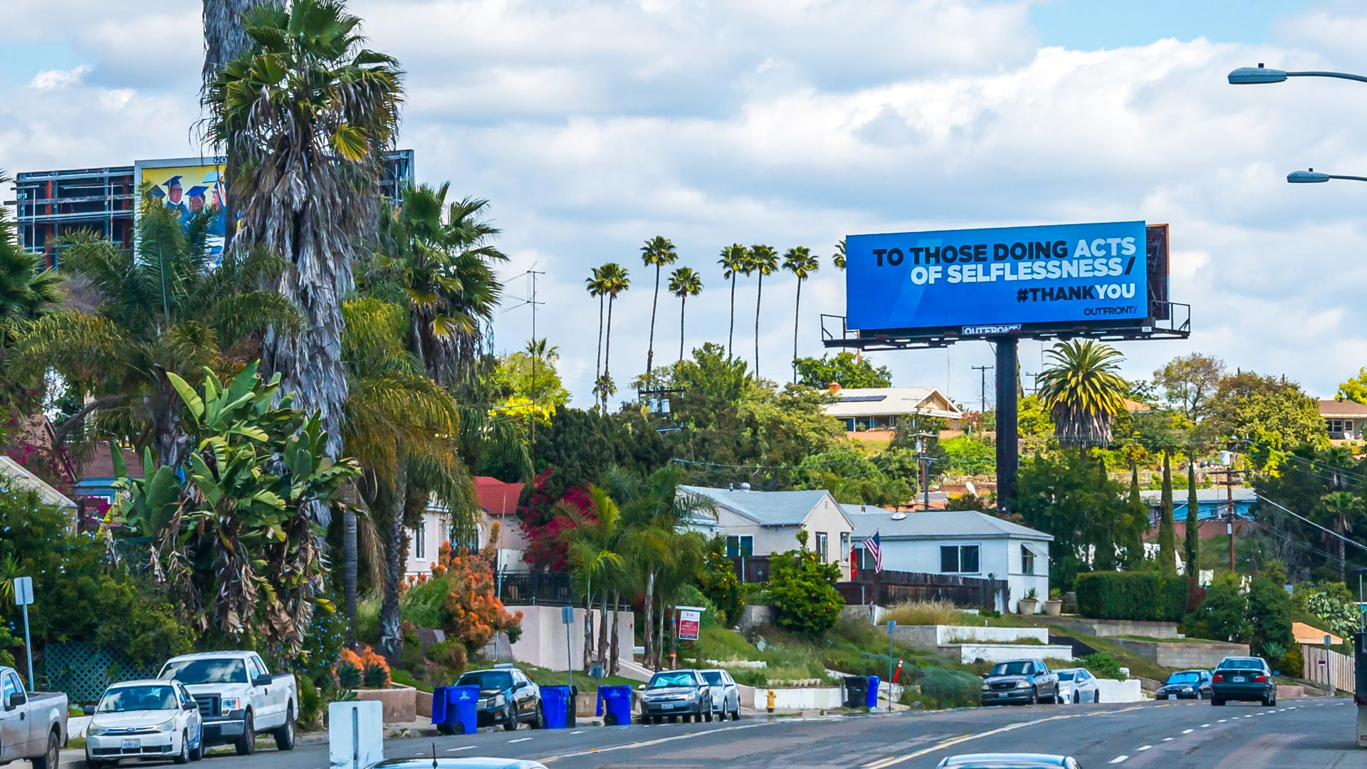 outfront media thank you campaign in los angeles california
