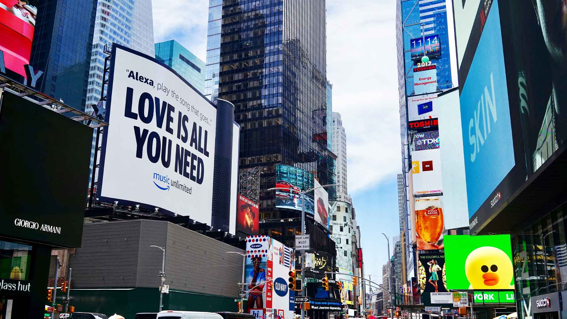 amazon alexa billboard out of home advertising in times square